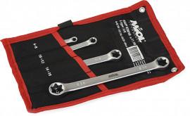 MIOL Набір ключів 4од. E-type CrV Miol 51-7800