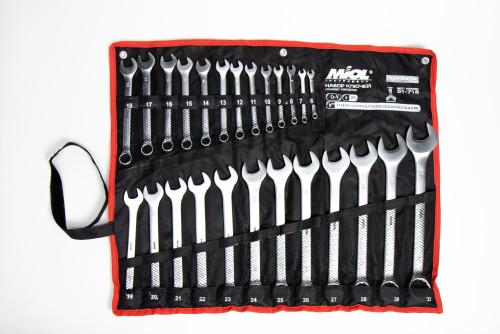 MIOL Набор ключей рожково-накидных в капроновой сумке MIOL 51-715 - Картинка 1