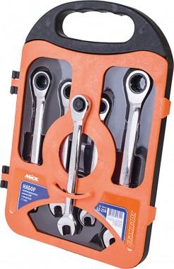 MIOL Набор ключей комбинированных с трещоткой MIOL 52-250 - Картинка 1